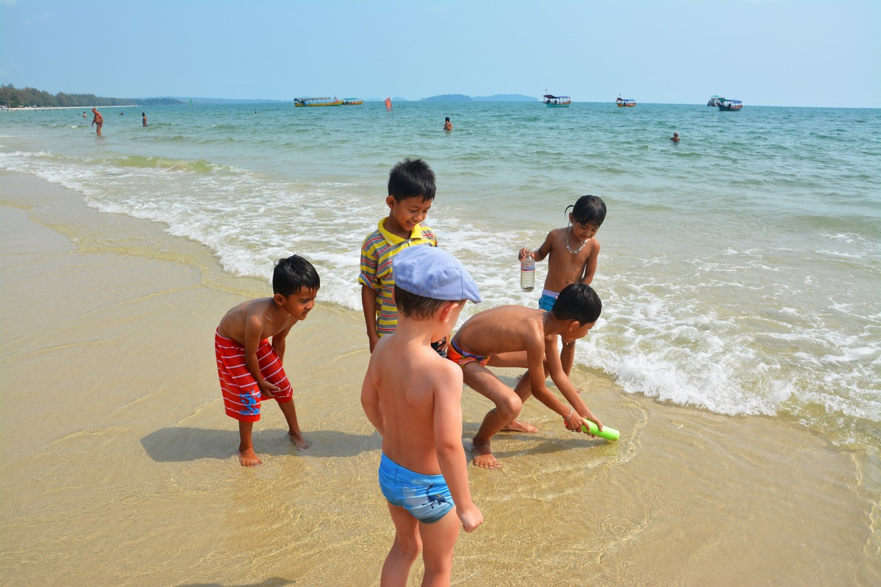 Kambodža s deťmi - Sihanoukville