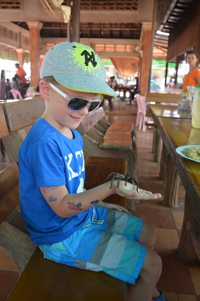 Cambodia with kids - Skuon Spiderville