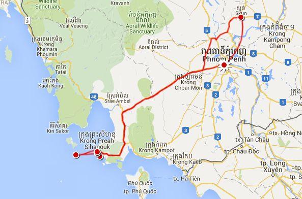 Kambodža s deťmi - itinerár
