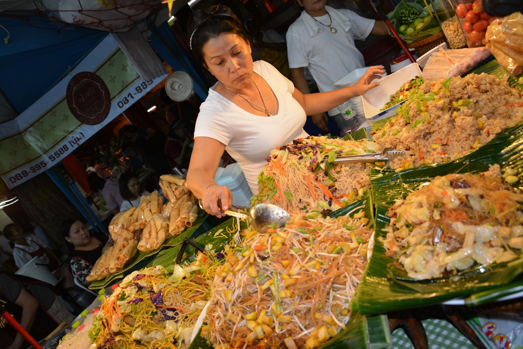 Bangkok jedlo z ulice